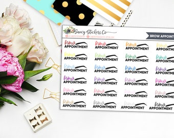 Brow Appointment Functional Planner Stickers | for use with Erin Condren Lifeplanner™, Filofax, Personal, A5, Happy Planner