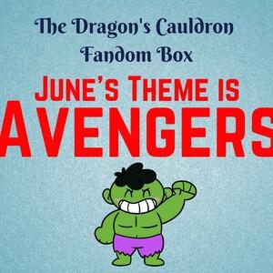 Avenger Themed Mystery Bath and Beauty Box / June Box / Monthly Box / Fandom Box