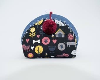 Herbie small - coin purse - small zipper pouch - cosmetic bag - dog world - dog lover