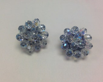 Vintage AB Made in Austria Clip Earrings Great Wedding ER