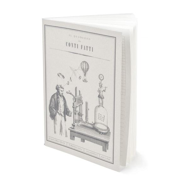 QUADERNO CONTI FATTI. Vintage style notebook. Victorian style calculation notebook. For antique lovers. Quaderno Dei Conti Fatti