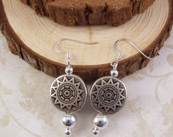 Silver Earrings, Southwest Earrings, Boho Earrings, Bohemian Earrings, Everyday Earrings, Boho Silver Jewelry, Birthday Gifts for Her Women