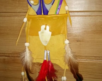 Wall, empty Pouch Pocket decorative Indian theme