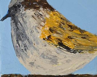 Gift for Dad. Acrylic Wren Bird Painting. Animal Portrait Miniature Painting. Wildlife Bird Wall Art Decor. Gift for Bird Lover. 51