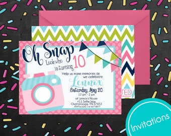 PRINTED Photo Scavenger Hunt Party Kit -Customized Invitations-Party Supplies and Decor