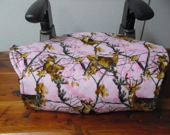 Pink realtree camo toddler booster seat cover--booster seat not included