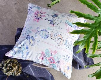 Princess of Maurya Empire cushion cover, hand drawn cushion cover, Decorative Pillows, Cotton Pillowcase