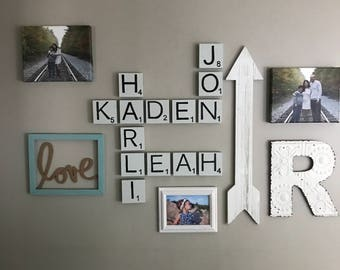 Family Scrabble Letters