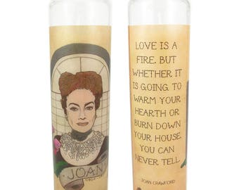 Joan Crawford prayer candle - Hollywood Flash series