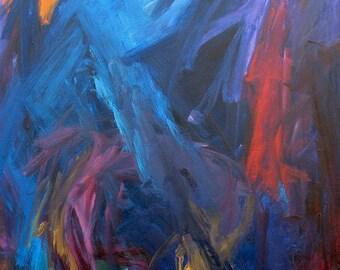 Heat Lightning GICLEE ART PRINT 8 x 11 summer dark blue abstract