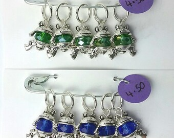 Frog Prince knitting or crochet stitch markers