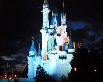 Disney World Magic Kingdom Cinderella Castle at Night Magnet-READY TO SHIP