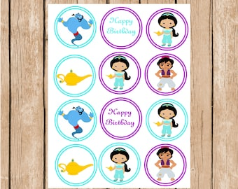 Princess Jasmine Instand Download Cupcake Toppers
