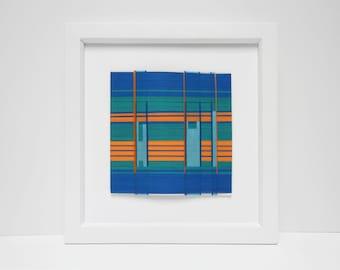 Abstract Wall Art, Orange & Blue