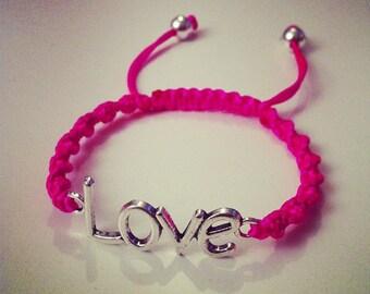 Bracelet LOVE Shamballa torsadé