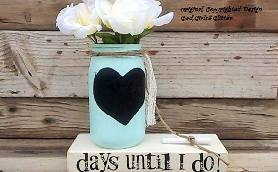 Countdown To Wedding Gifts: Wedding Countdown-Engagement Gift-Chalkboard Countdown-Unique
