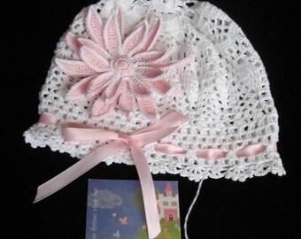 Crochet Baby Panama Hat, White Baby Sun Hats, Crochet Girls Hats, Kids Summer Girl Panama Hat, Baby Girl Panama Hat, Summer Baby Bonnet