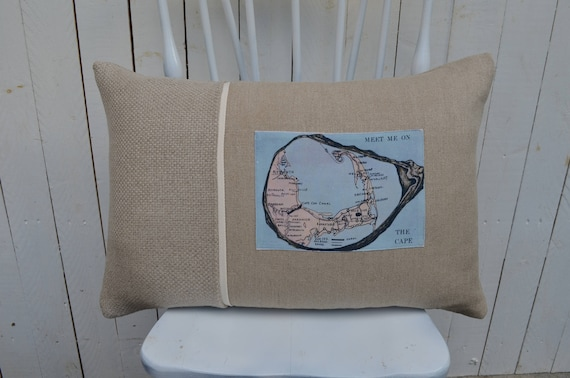 Meet Me At The Cape Postcard Pillow (available in 3 styles and 2 different prices)