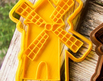 """Cookie cutter set """"Windmill"""" cutter and press, large size"""