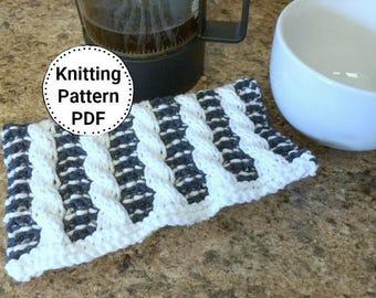 Knitting Pattern   Dishcloth Pattern   Timeless