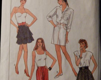 Vintage Misses' Skirts Pattern (Simplicity 8544) Size 8