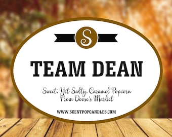 Team Dean, Gilmore Girls Inspired Soy Candle