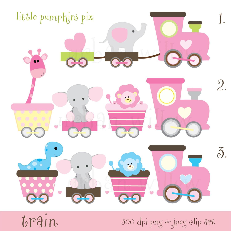 Train Clipart Baby Animals Train Clipart Pastel Clipart