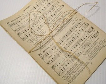 Antique/Vintage Hymnal Pages,  Hymnal sheet music bundle,  old hymns for paper crafts. Hymn sheet music. Select 25 or 50 sheets
