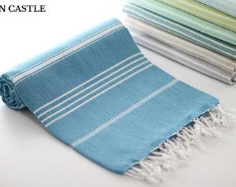 Classic   Teal Blue Bath Towel   Peshtemal Towel   Turkish Bath Towel   Turkish Towel   Massage Towel   Turkish Beach Towel   Spa Towel
