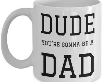 First time dad dude gifts for Fathers day Coffee mug & tea cup New dads 1st fathers day Daddy milestones gift for him Gift for dad