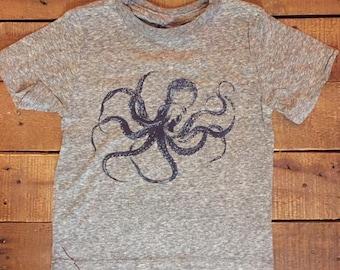 Kraken Octopus T-Shirt 100% Cotton Toddlers Kids  2T 3T 4T