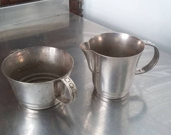 Vintage Silver Plated Jug and Sugar Bowl