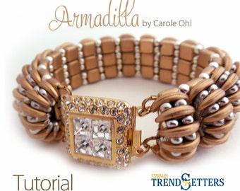 Armadilla Bracelet Tutorial by Carole Ohl