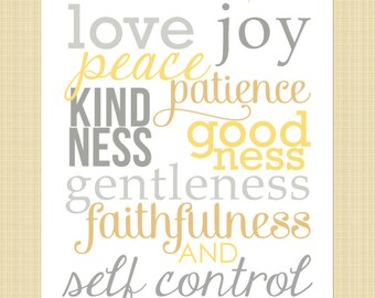 Galatians 5:22-23 - Fruit of the Spirit - DIGITAL LISTING - Print Yourself