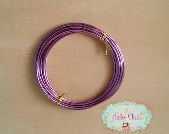 Spool of 5 meter wire Purple 2 mm diam.