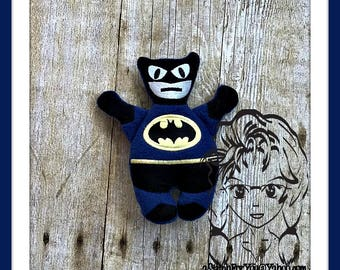 BAT HERO Friend ~ 3D Plush Softie Toy ~ In the Hoop ~ Downloadable DiGiTaL Machine Embroidery Design by Carrie