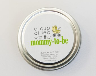 Baby Shower Favor - Cup of Tea With Mommy-To-Be - Gender Neutral - Gender Unknown - Yellow and Green Shower - Favor for Boy or Girl Shower