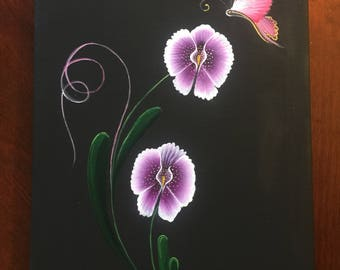 Orchid flowers painting