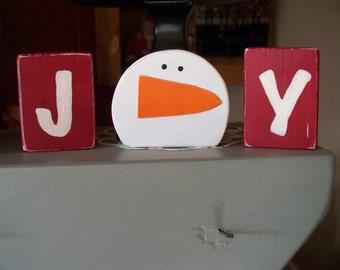 Joy Snowman Display, snowman, Holiday decor