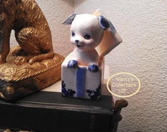 Delft Blue Puppy Dog Amsterdam Figurine Holland