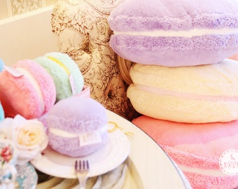 Fluffy Macarons cushions |Afternoon Tea andDessert | Cute and Kawaii | Gift & Accessories