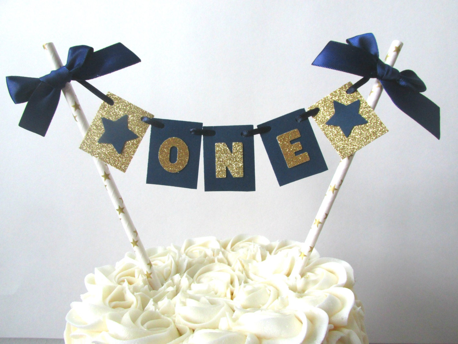Navy Blue and Gold First Birthday Decor Navy and Gold Twinkle