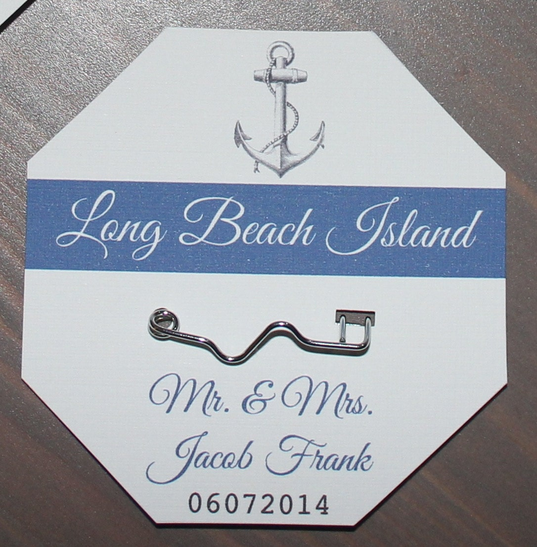 Beach Badge Place Cards or Escort Cards Beach Weddings