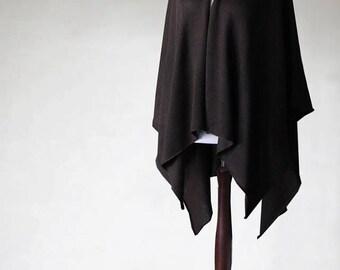 Open poncho, women's blazer, loose sweaters, wedding poncho, women's sweater, knit poncho, grunge sweater, oversized sweater, womens cape
