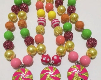 shopkins inspired chunky necklace