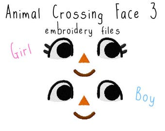 Animal crossing eyes EMBROIDERY MACHINE FILES pattern design hus jef pes dst all formats Instant Download digital anime doll plush applique