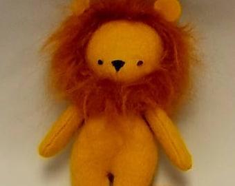 Handmade Wool blend Felt Miniature Lion Toy