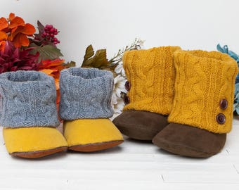 Annmarie Baby Boots PDF Sewing Pattern (#1340)