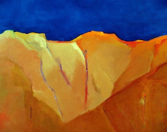 "Abstract landscape original oil painting 16""x20"" on canvas New Mexico sky"