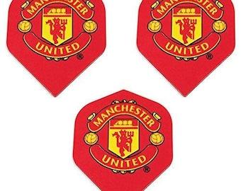 Art Attack 3 Pack Manchester United Soccer Football Premier League 75 Micron Strong Dart Flights